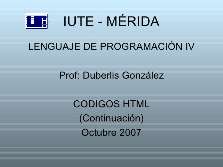 lenguaje html codigos: