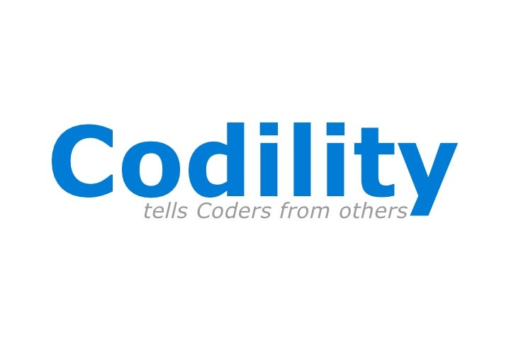 Codility  tells Coders from others