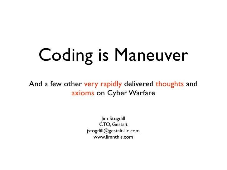 Coding Is  Maneuver