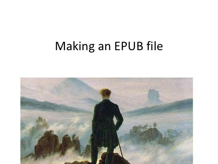 Making an EPUB file