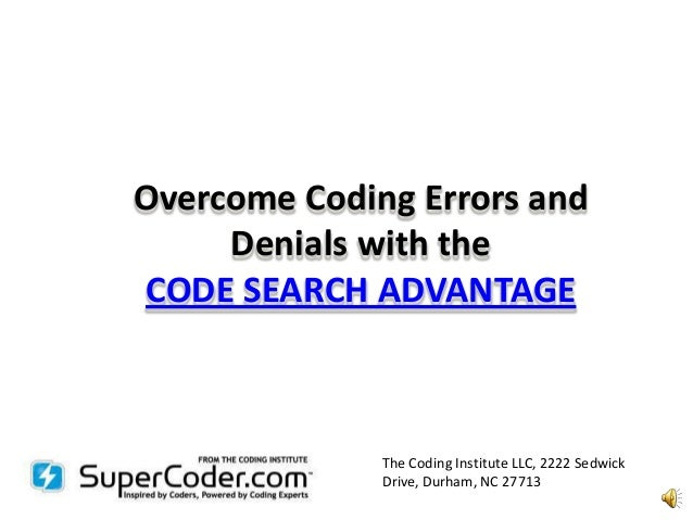Coding errors and denials