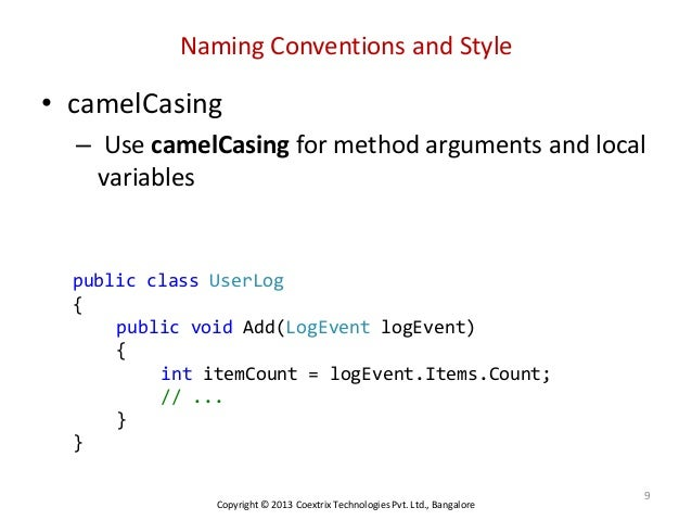 naming convention in java pdf