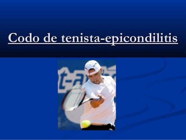 Codo de tenista-epicondilitis