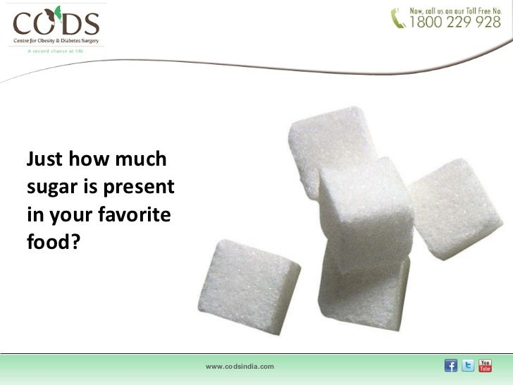 Just how much sugar is present in your favorite food?