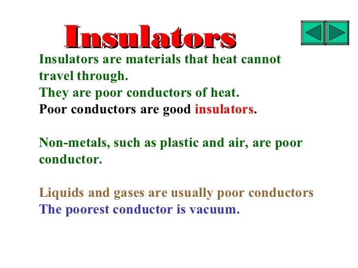 Examples Of Conductors Of Heat : Coduction convection and radiation