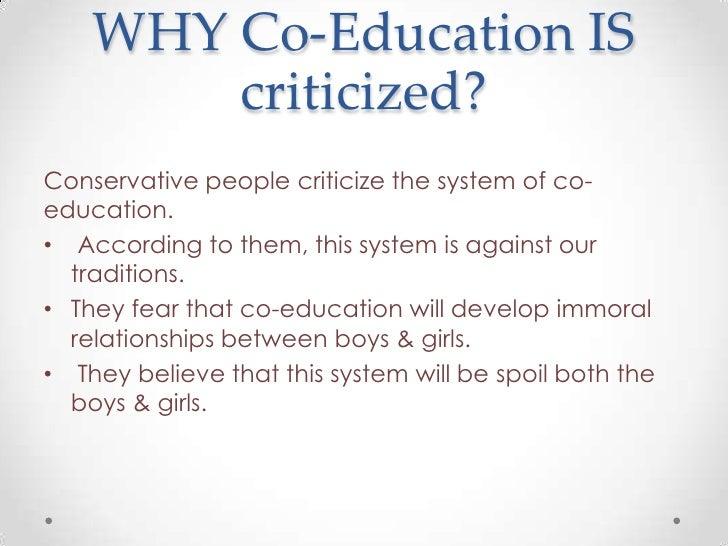 against co education