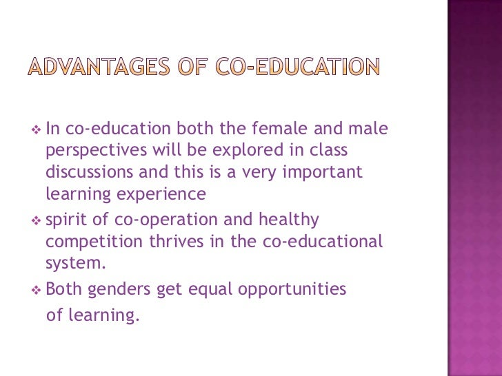 benefits of co education essay