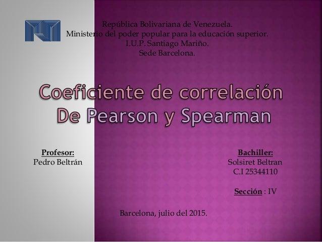 República Bolivariana de Venezuela. Ministerio del poder popular para la educación superior. I.U.P. Santiago Mariño. Sede ...