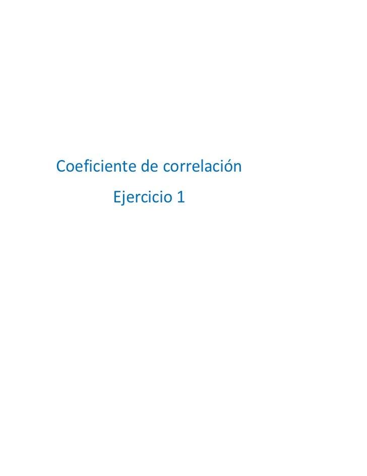 Coeficiente ejercicio 1