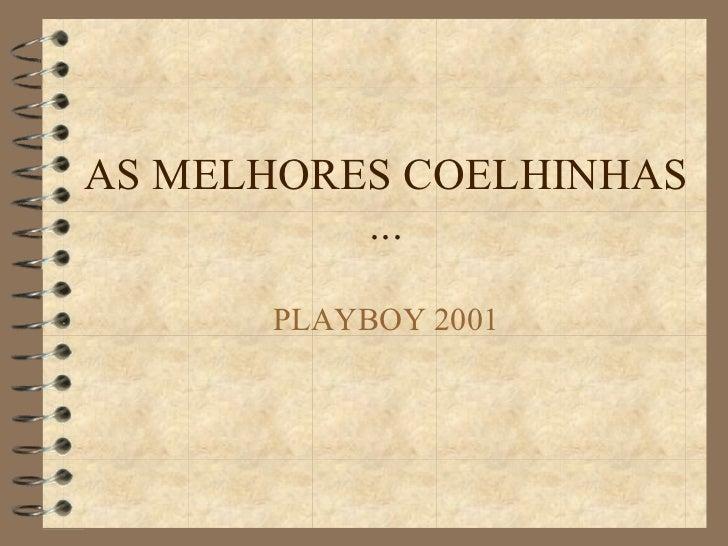 AS MELHORES COELHINHAS ... PLAYBOY 2001