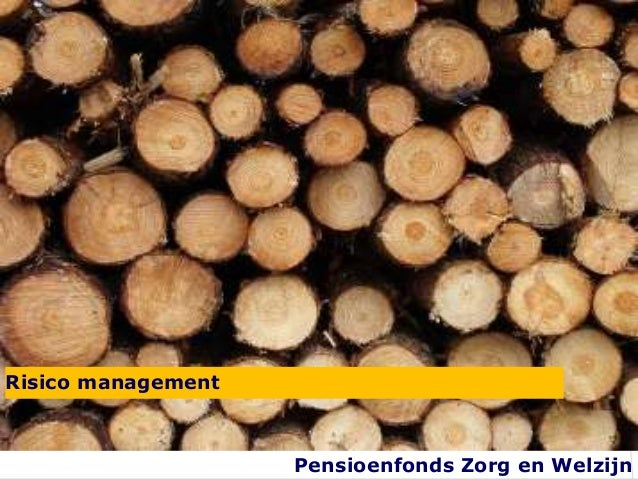 Risico management                    Pensioenfonds Zorg en Welzijn