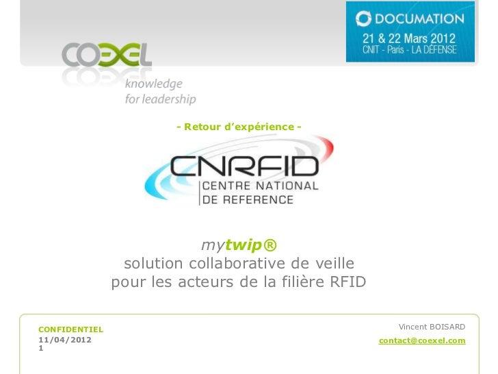 - Retour d'expérience -                           mytwip®                solution collaborative de veille               po...
