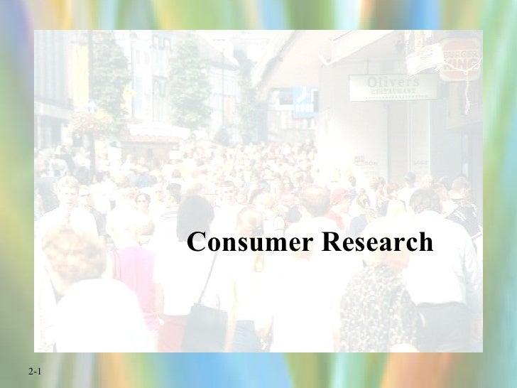 Consumer Resarch