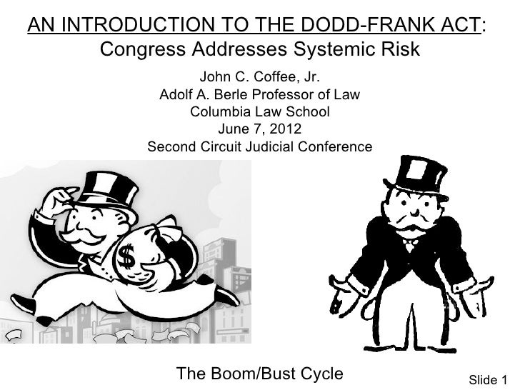 AN INTRODUCTION TO THE DODD-FRANK ACT:      Congress Addresses Systemic Risk                John C. Coffee, Jr.          A...