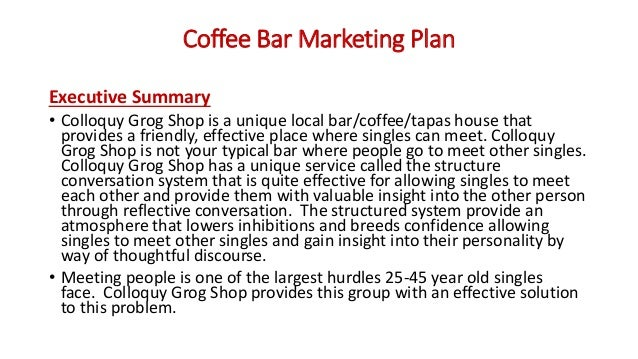 Executive summary example business plan
