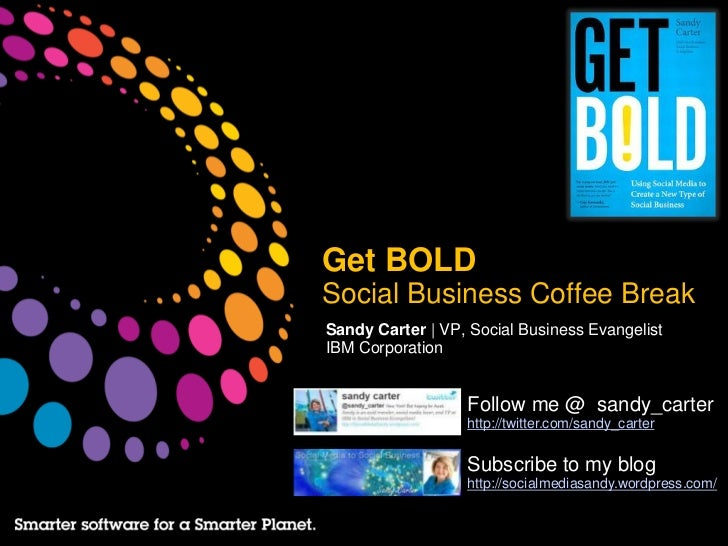 Coffee Break:  Social Business No Jelly Fish!