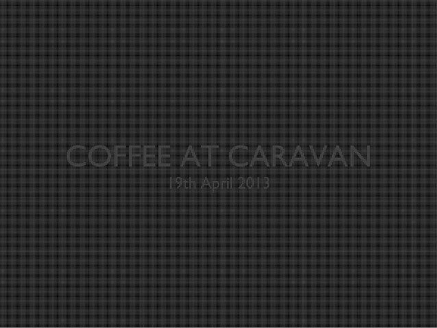 Coffee knowledge workshop
