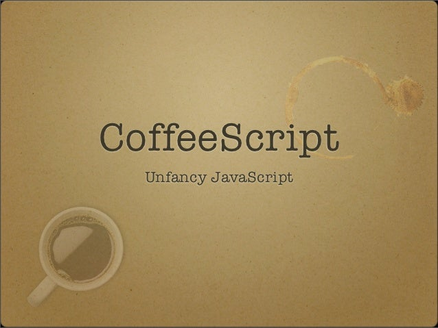 Coffeescript - take a sip of code