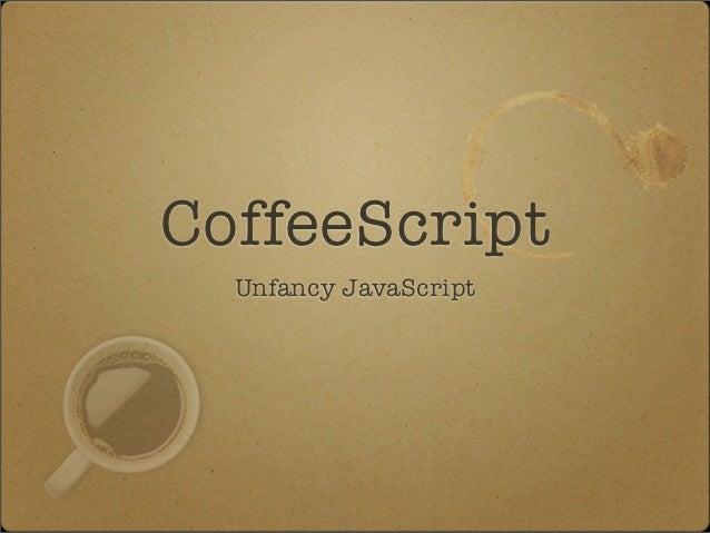 Coffeescript - take a sip of code