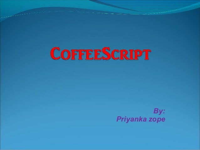 Coffee script final
