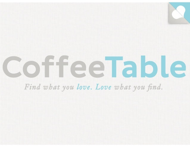 CoffeeTable Presents at Under the Radar