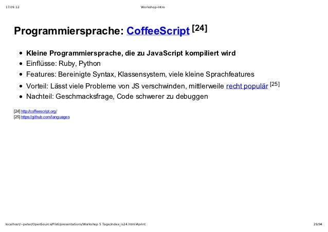 17.09.12                                                                         Workshop-Intro    Programmiersprache:Cof...