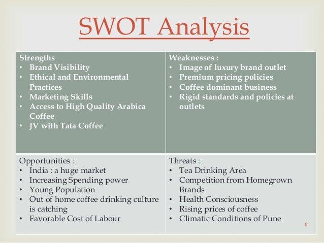 swot analysis coffee kiosk