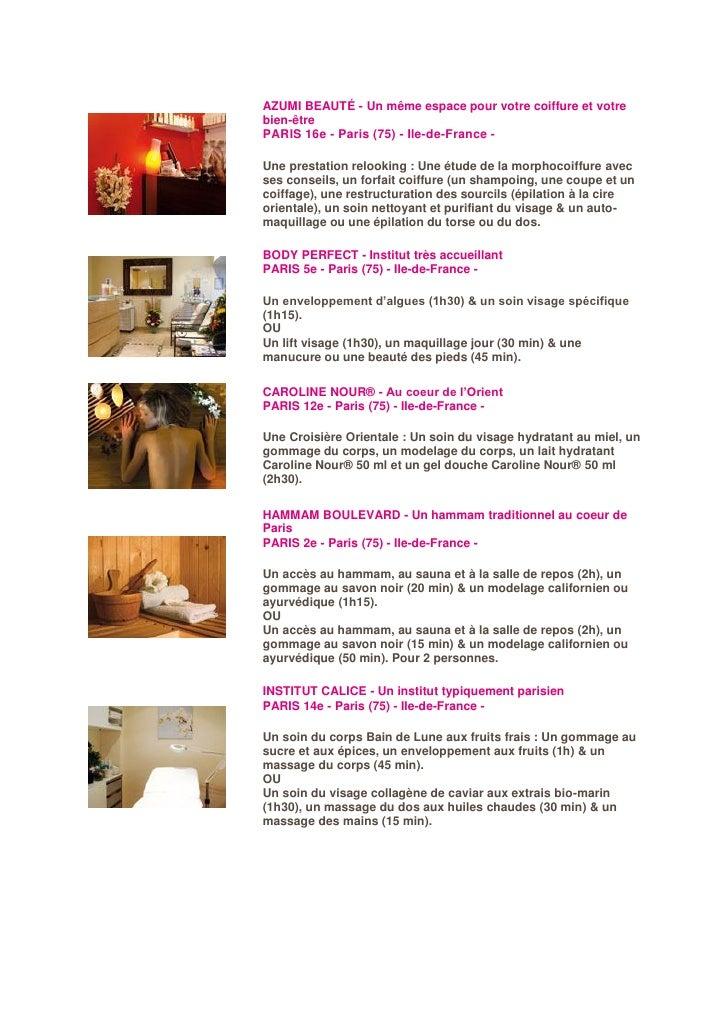 AZUMI BEAUTÉ - Un même espace pour votre coiffure et votre bien-être PARIS 16e - Paris (75) - Ile-de-France -  Une prestat...