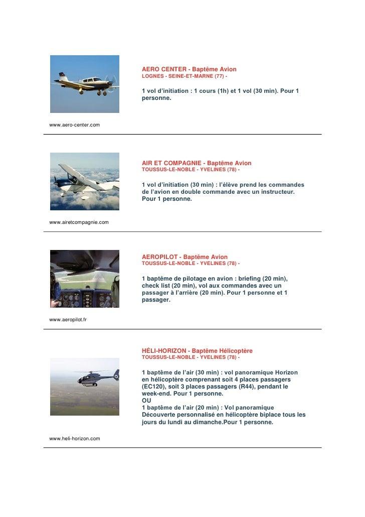 AERO CENTER - Baptême Avion                          LOGNES - SEINE-ET-MARNE (77) -                            1 vol d'ini...