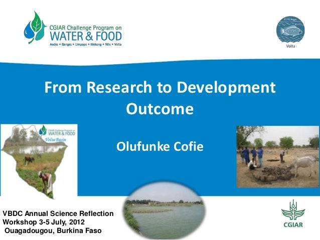 From Research to Development Outcomes in the Volta River Basin (2012)