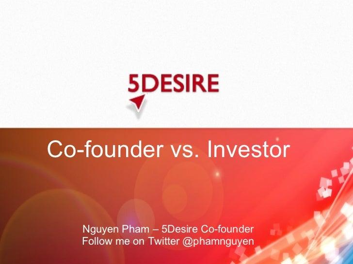 Co-founder vs. Investor