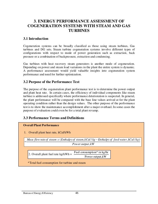 3. ENERGY PERFORMANCE ASSESSMENT OF     COGENERATION SYSTEMS WITH STEAM AND GAS                     TURBINES3.1 Introducti...