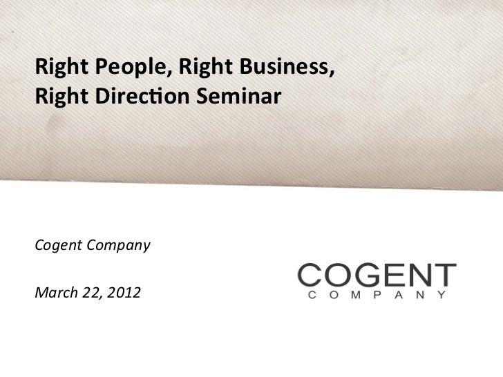 Cogent Company.March Analytics Event