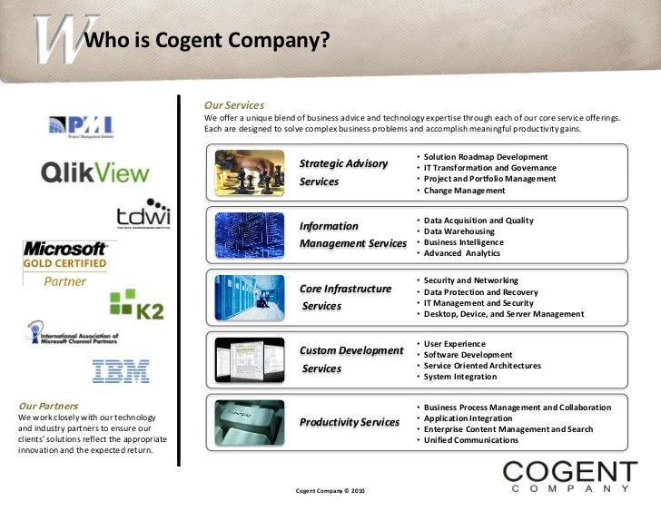 W  S               Who is Cogent Company?                                             Our Services                        ...