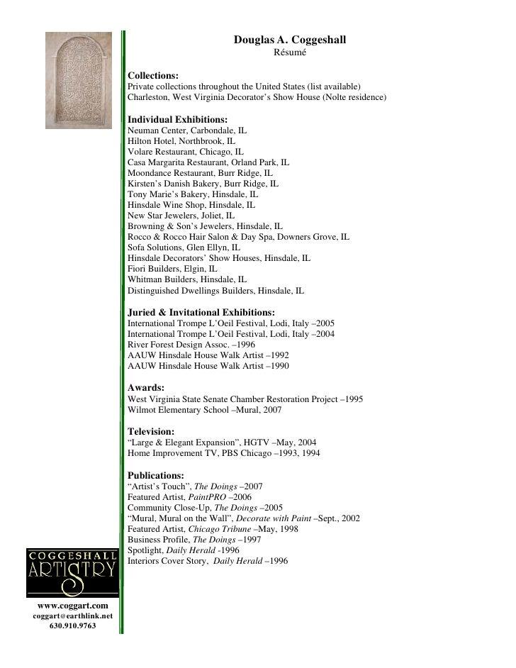 Douglas A. Coggeshall                                                               Résumé                          Collec...