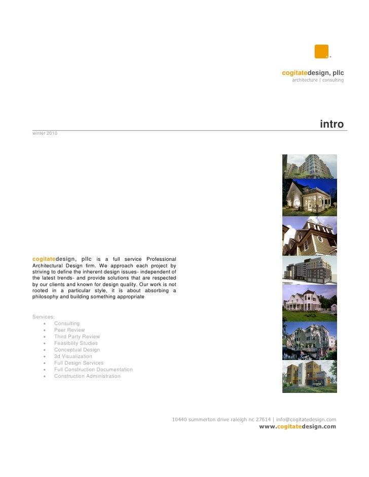 Cogitate Design Portfolio