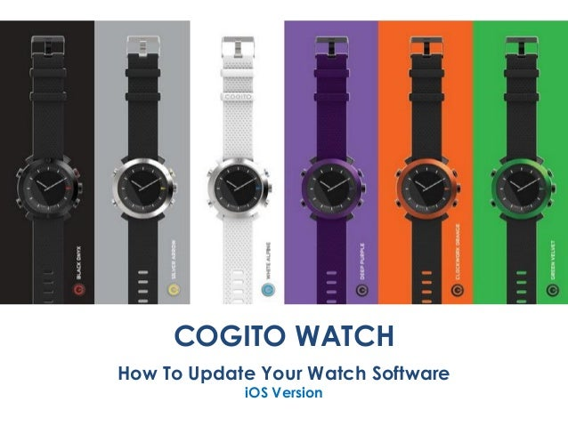 COGITO WATCH How To Update Your Watch Software iOS Version