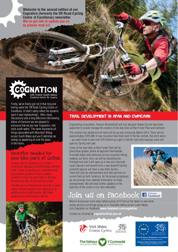 Welcome to the second edition of our            Cognation (formerly the Off Road Cycling            Centre of Excellence) ...