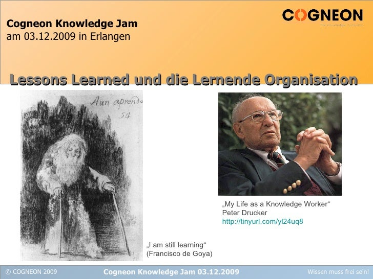 Cogneon Praesentation Lessons Learned und die Lernende Organisaiton