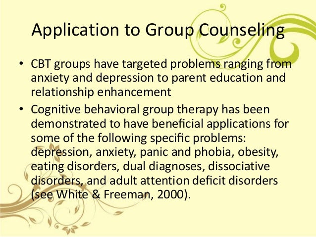the application of cognitive behavioral therapy for depression What is cognitive therapy cognitive-behavioral therapy is a relatively short-term, focused psychotherapy for a wide range of psychological problems including depression, anxiety, anger.