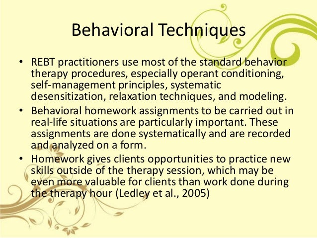 behavior theraphy Cognitive behavioral therapy (cbt) is a treatment modality technique and major aspect of our programs for drug and alcohol addiction rehab and recovery.