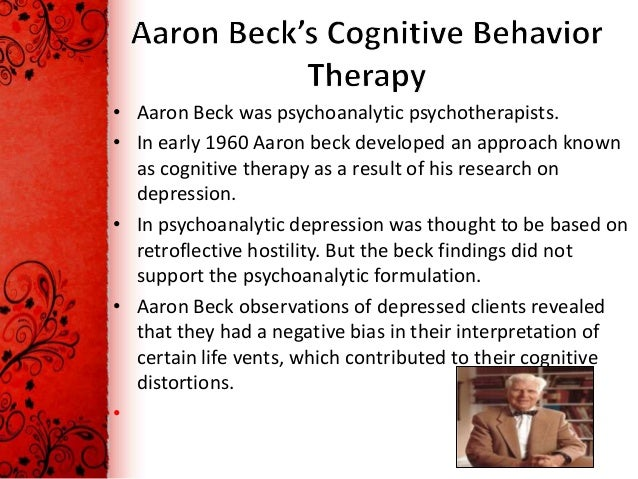 cbt therapy essay The term cognitive behavioral therapy is considered a general term for a classification of therapeutic approaches that have similarities, including: rational emotive behavior therapy, rational behavior therapy, rational living therapy, cognitive therapy and dialectical behavior therapy.