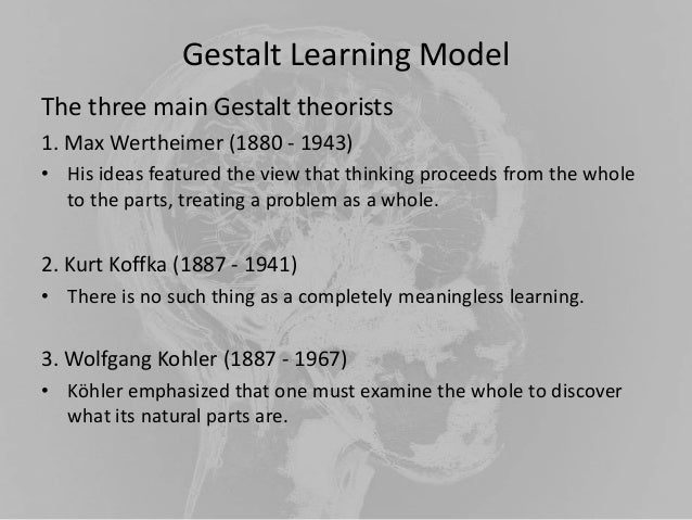 gestalt and cognitive perspectives What is gestalt theory, what are its it is possible to combine different perspectives in order to elaborate improving memory cognitive, gestalt, gestalt.