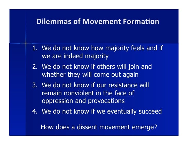 Forming a Movement: Cognitive Liberation