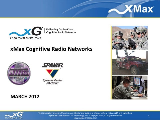 Cognitive Radio for Military Communications SPAWAR March 2012