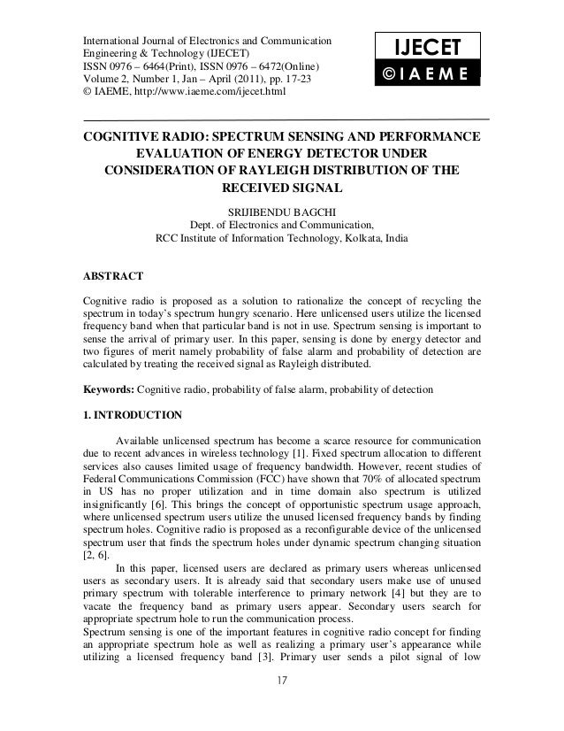 International Journal of Electronics and Communication Engineering & Technology (IJECET), ISSN 0976International Journal o...