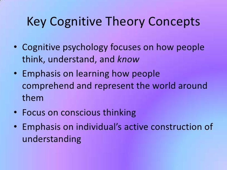 the cognitive theory Cognitive-behavioral theories are best conceptualized as a general category of theories, or a set of related theories, which have evolved from the theoretical writings, clinical experiences, and empirical studies of behavioral and.