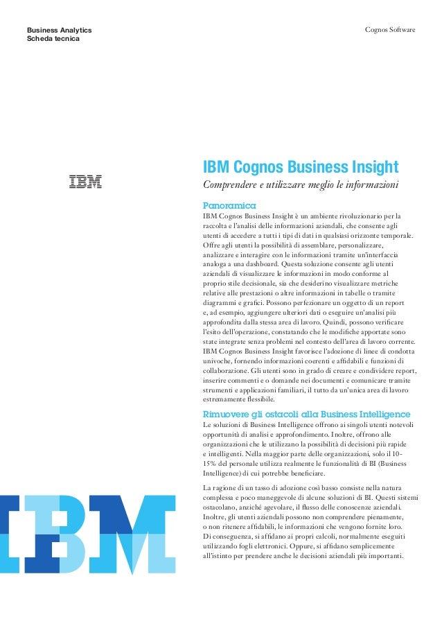 Cognos10 business insight