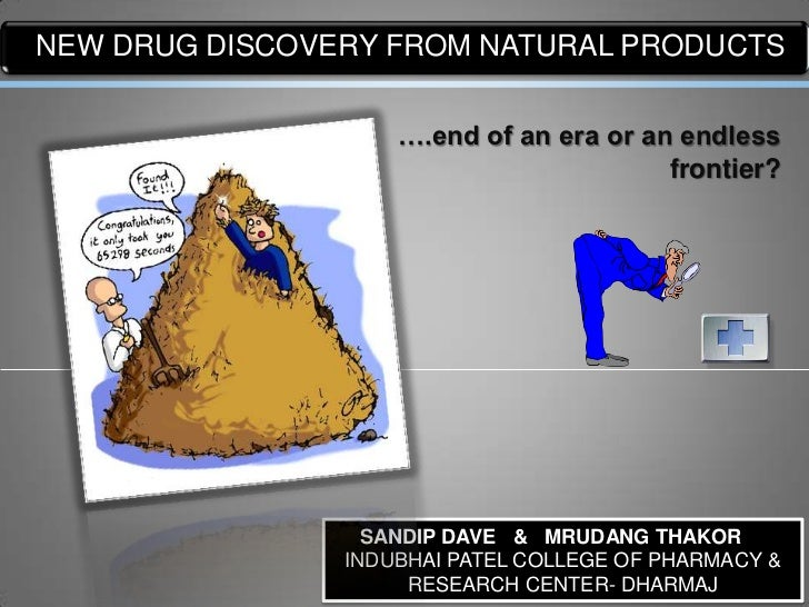 LOGO DRUG DISCOVERY FROM NATURAL PRODUCTSNEW                     ….end of an era or an endless                            ...