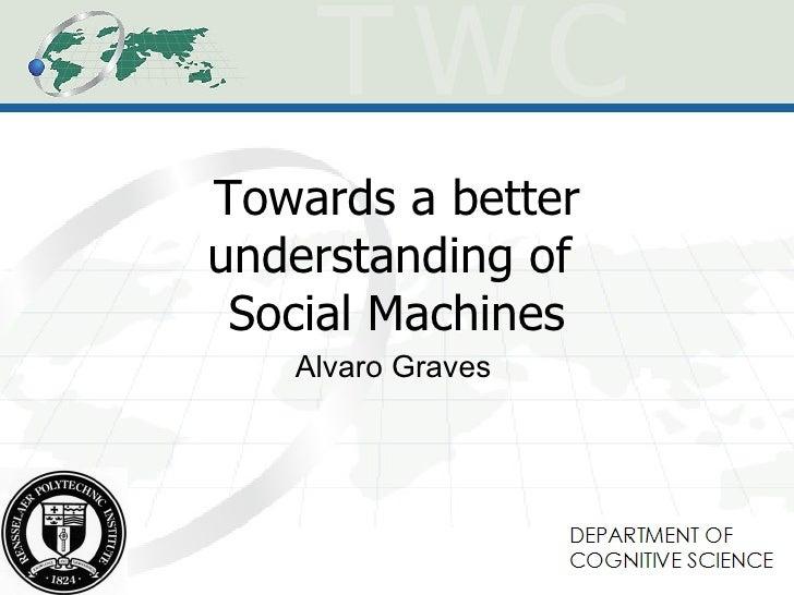 Towards a better understanding of Social Machines